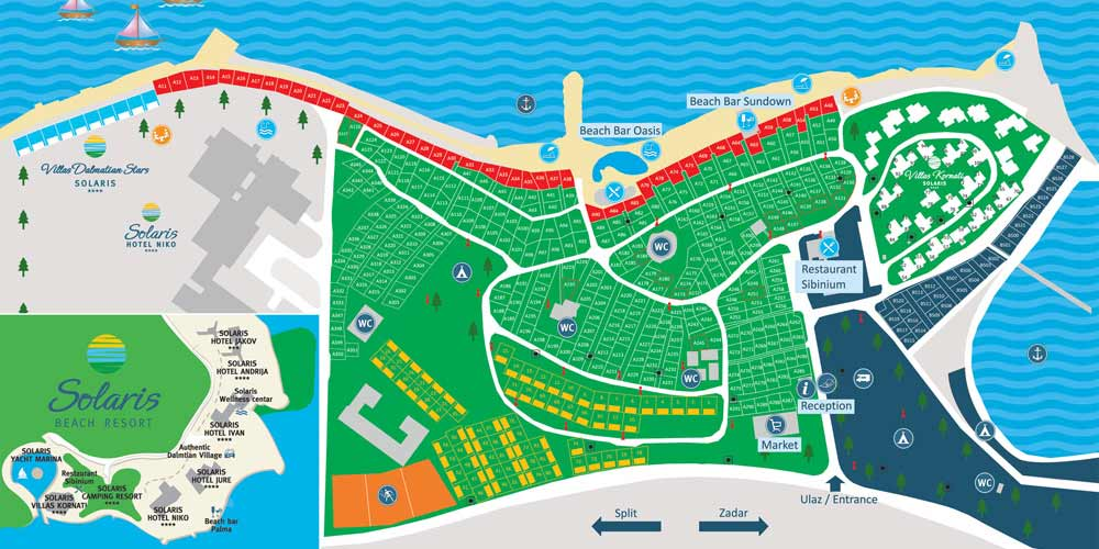 solaris karta solaris camping beach resort map – Camp Solaris solaris karta
